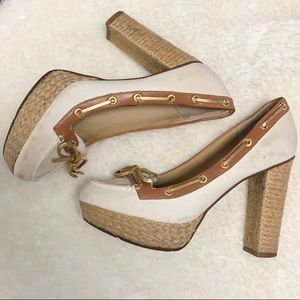 Milly for Sperry canvas heels